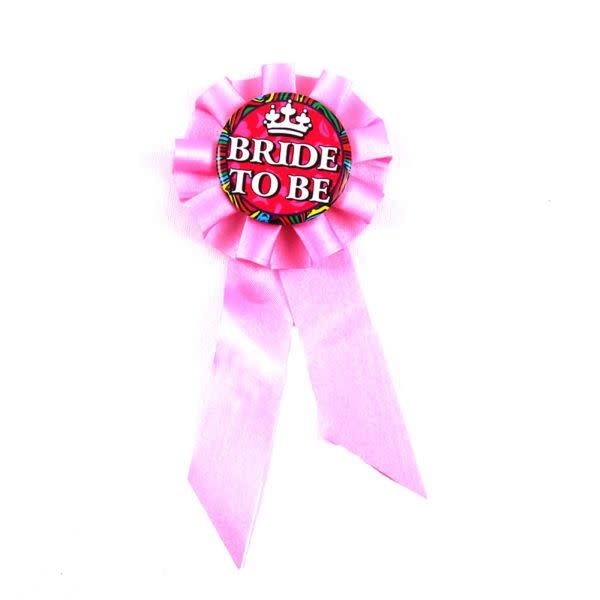 Premium Products Bride To Be Pink Ribbon Pin