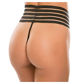 Allure Leather Cheeky Chique High Waist G-String