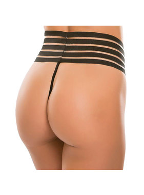 Allure Leather Allure Cheeky Chique High Waist G-String (One Size)
