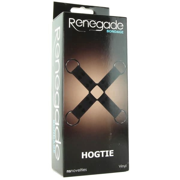 NS Novelties Renegade Vinyl Hogtie (Black)