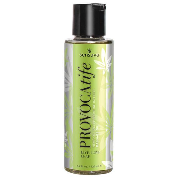 Sensuva Provocatife Hemp Oil Massage Oil w/ Pheromones 4.2 oz (125 ml)