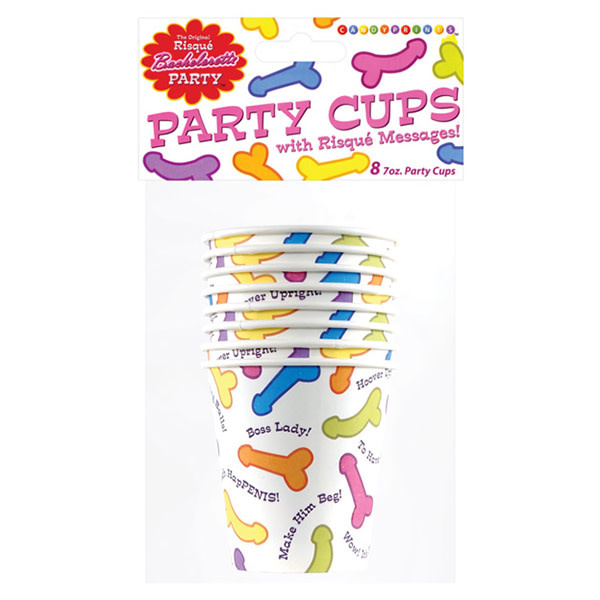 Little Genie Bachelorette Risque Party Cups (Bag of 8)