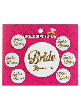 Kalan LP Bachelorette Party Button Bride/Bride's Besties