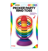 Hott Products Rainbow Pecker Party Ring Toss