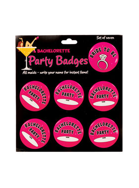 Bachelorette Party Badges (Pack of 7)