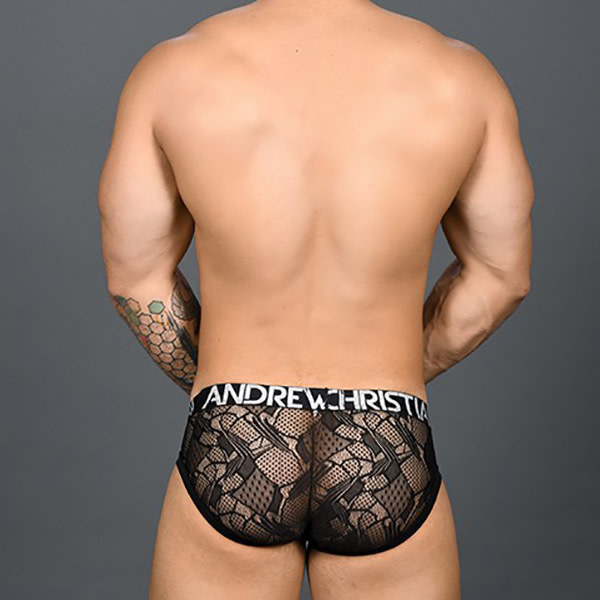 Andrew Christian Menswear Andrew Christian Flare Lace Brief w/ Almost Naked
