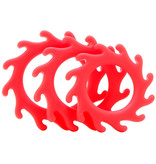 NS Novelties Renegade Gears Cock Ring Set (Red)