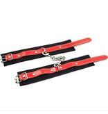 Premium Products Danica Black and Red Wrist Cuffs