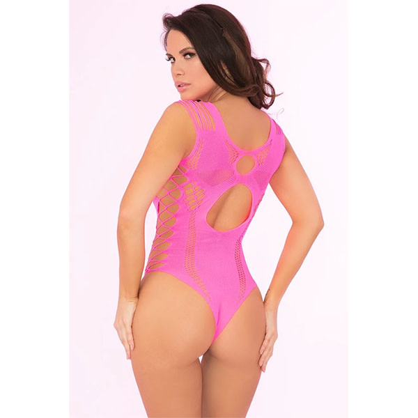 Pink Lipstick Some Body to Love Pink Bodysuit (One Size)