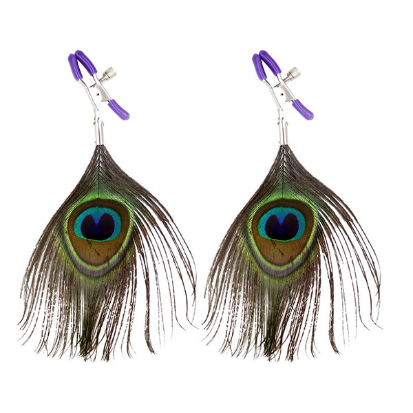Premium Products Peacock Feather Nipple Clamps