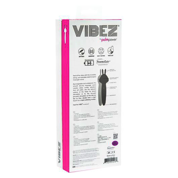 BMS Enterprises Vibez by PalmPower: Rechargeable Rabbit Massage Wand
