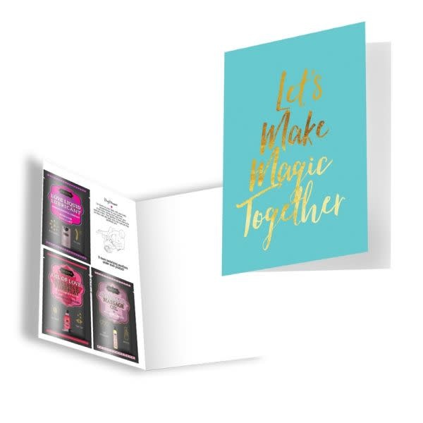 Kama Sutra Kama Sutra Naughty Notes Greeting Card: Let's Make Magic Together