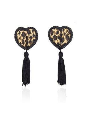 Premium Products Premium Tassel Nipple Pasties Lace Heart Leopard