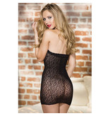 Shirley of Hollywood Animal Patterned Halter Neck Chemise with Satin Bow (One Size)