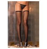 Rene Rofe Lingerie Black Fishnet Thigh Highs