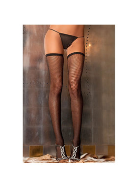 Rene Rofe Lingerie Black Fishnet Thigh Highs