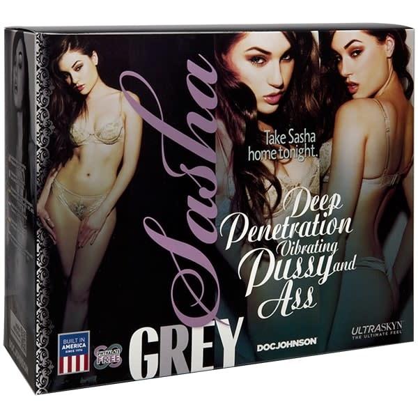 Doc Johnson Toys Sasha Grey's Deep Penetration Vibrating Pussy & Ass
