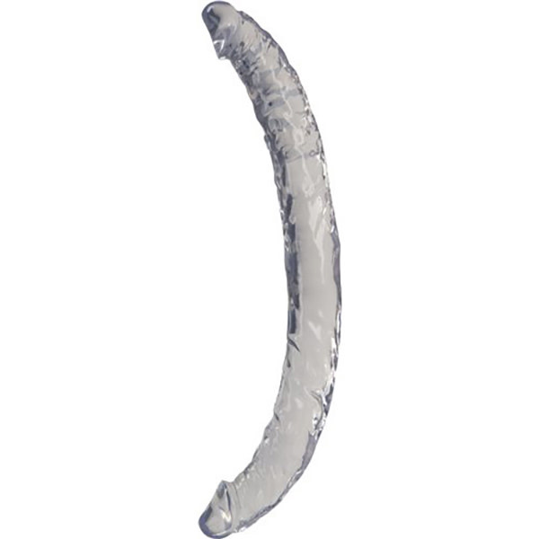 """NMC Luxy 14"""" Clear Stone Double Dong (Clear)"""
