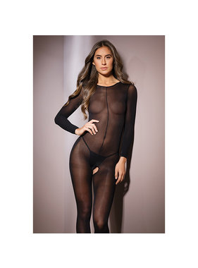 Coquette International Lingerie Coquette Sheer of the Dark Bodystocking (One Size)