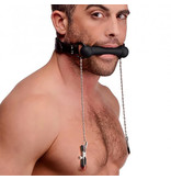 XR Brands Strict Silicone Bit Gag and Nipple Clamps