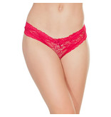 Coquette International Lingerie Coquette Floral Print Lace Crotchless Panty (One Size)
