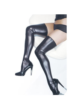 Coquette International Lingerie Coquette Wetlook Stockings (One Size)