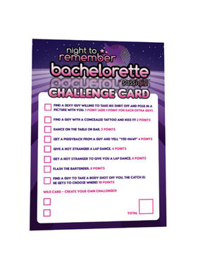 Night to Remember Bachelorette Challenge Cards
