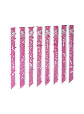 Forum Novelties Bride to Be Bridal Party Sash Set (Set of 8)