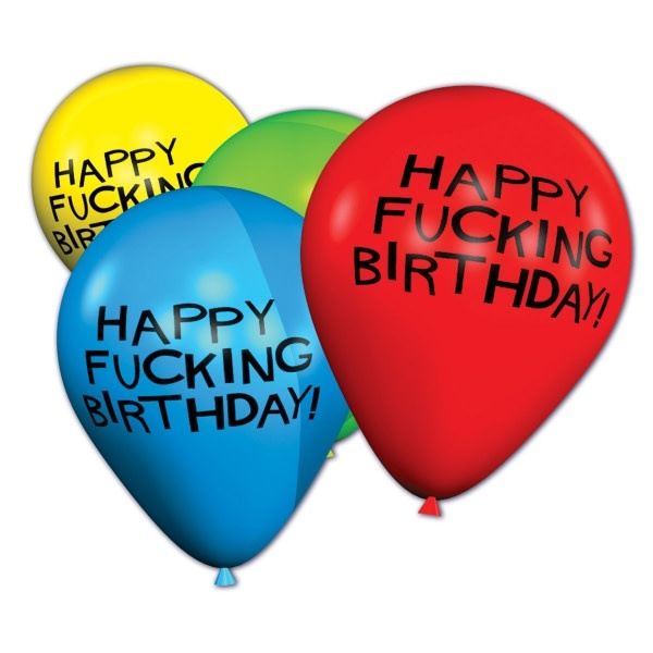 Candyprints Happy Fucking Birthday Balloons - Bag of 8