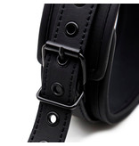 Premium Products Onyx PU Leather Collar with Leash