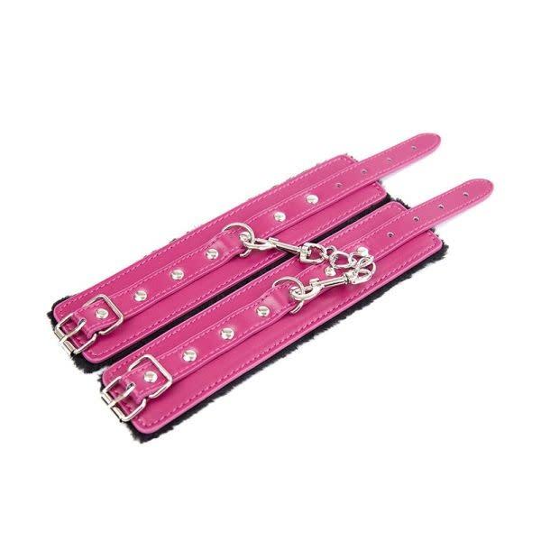 Premium Products Raspberry Delight Fur Wrist Cuffs