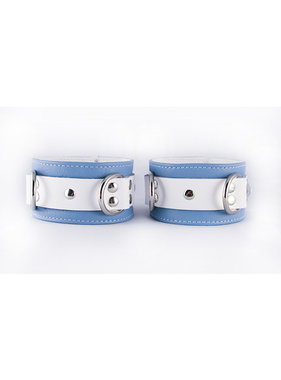Aslan Leather Inc. Crystal Blue Ankle Cuffs