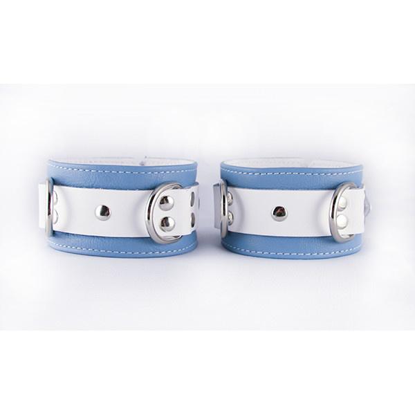 Aslan Leather Inc. Crystal Blue Ankle Cuffs