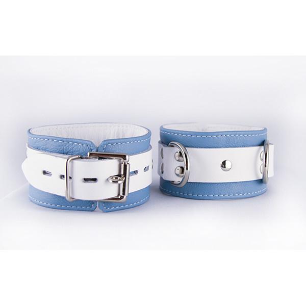 Aslan Leather Inc. Aslan Crystal Blue Ankle Cuffs