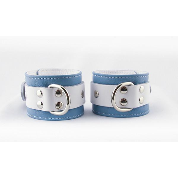 Aslan Leather Inc. Crystal Blue Wrist Cuffs