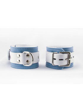Aslan Leather Inc. Crystal Blue Wrist Cuffs