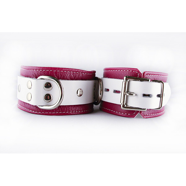 Aslan Leather Inc. Pink Candy Ankle Cuffs