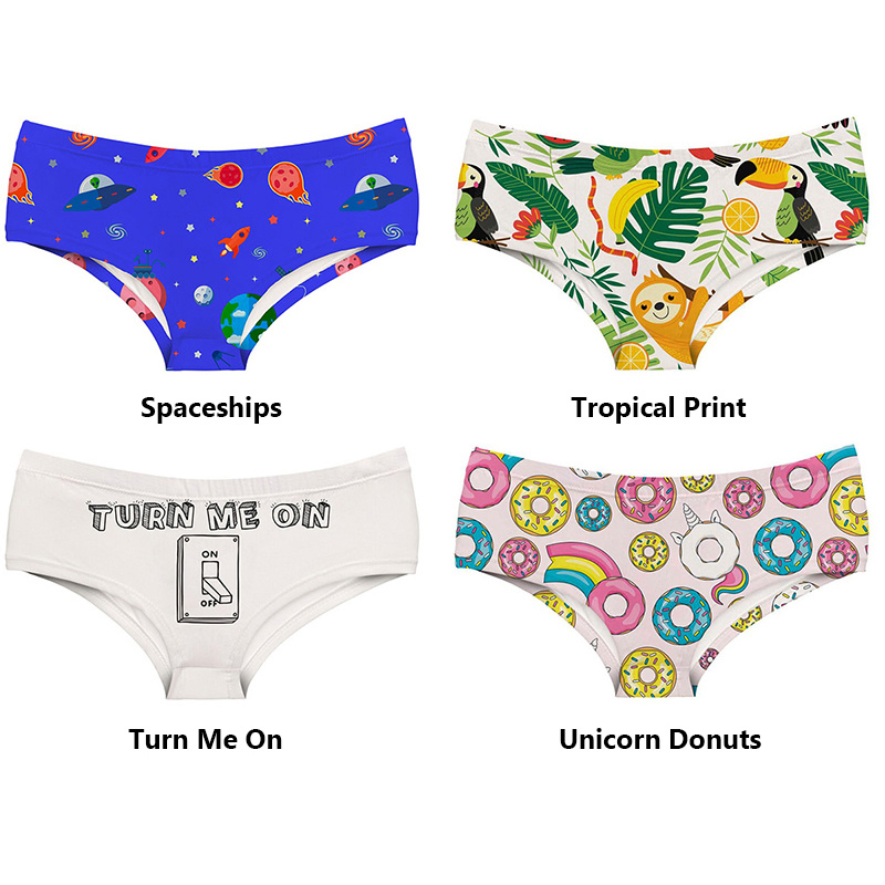 Premium Products Premium Products Say It! Women's Printed Briefs (One Size)