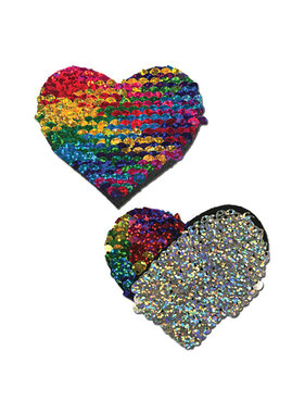 Pastease Brand Pastease Color Changing Flip Sequins Heart: Rainbow