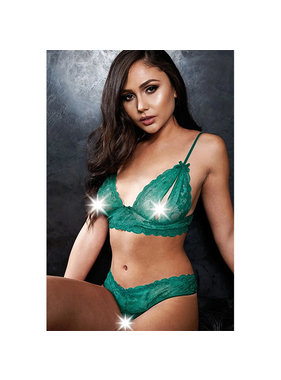 X-Gen Products Smash Hit Teal Bralette & Crotchless G-String