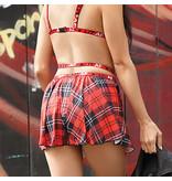 Fantasy Lingerie Fantasy Lingerie Vibes LIT AF Plaid Skirt
