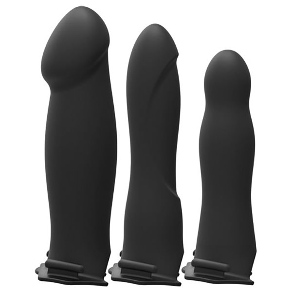 Doc Johnson Toys Doc Johnson Body Extensions: BE Naughty Vibrating 4-Piece Hollow Strap-On Set
