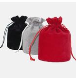 Premium Products Small Velvet Drawstring Storage Bags (9 cm x 14.5 cm)