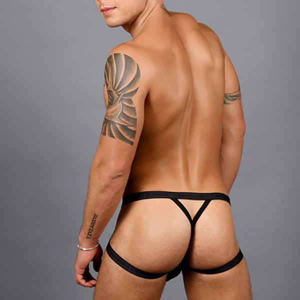 Andrew Christian Menswear Andrew Christian Disco Rainbow Shimmer Diamond Y-Back Jock Thong w/ Almost Naked