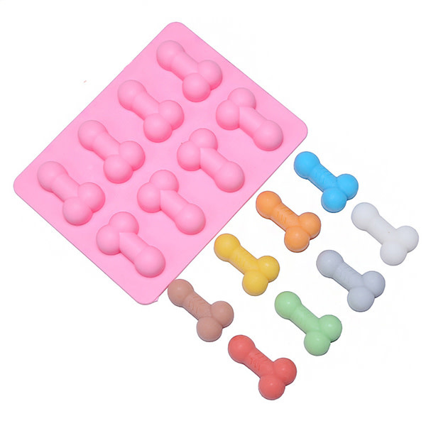 Premium Products Sexy Ice Cube Tray: Silicone Dicky (assorted colours)