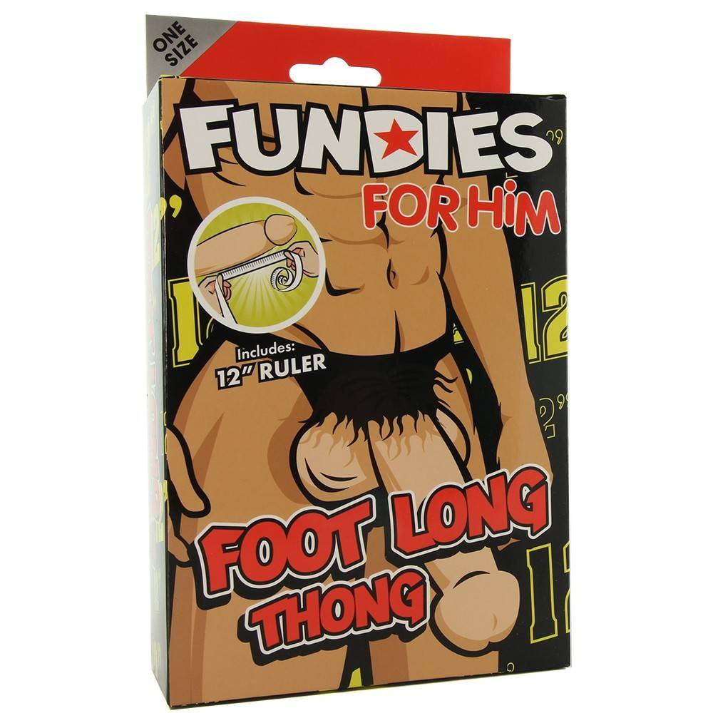 XR Brands Fundies Foot Long Thong with Ruler