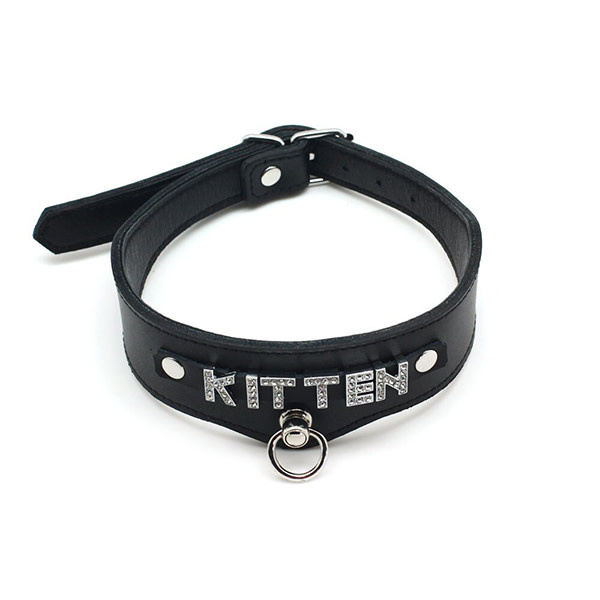 Premium Products Jeweled Letter Black Collar