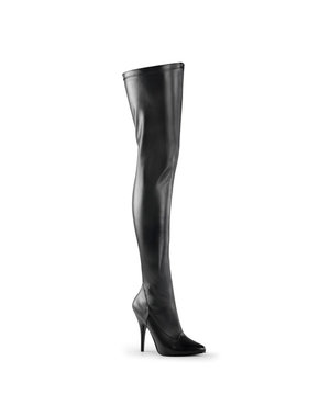 Pleaser USA Pleaser SEDUCE-3000 Single Sole Thigh High Boot