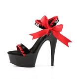 Pleaser USA Pleaser Delight-615 Mid Platform Sandal (Black/Red)