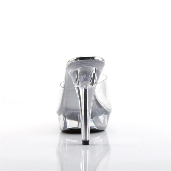 Pleaser USA COCKTAIL-501 Clear Platform Heel